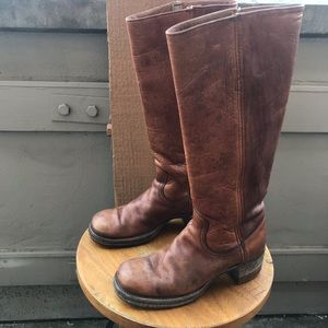 FRYE Vintage 70's Leather Campus Stye Riding Boots